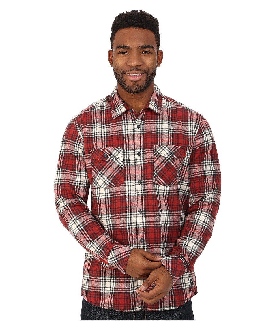 Quiksilver - Everyday Flannel Woven Top (Everyday Flannel Rosewood) Men's Long Sleeve Button Up
