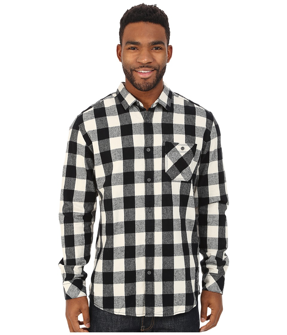 Quiksilver - Motherfly Flannel Woven Top (Motherfly Anthracite) Men's Long Sleeve Button Up