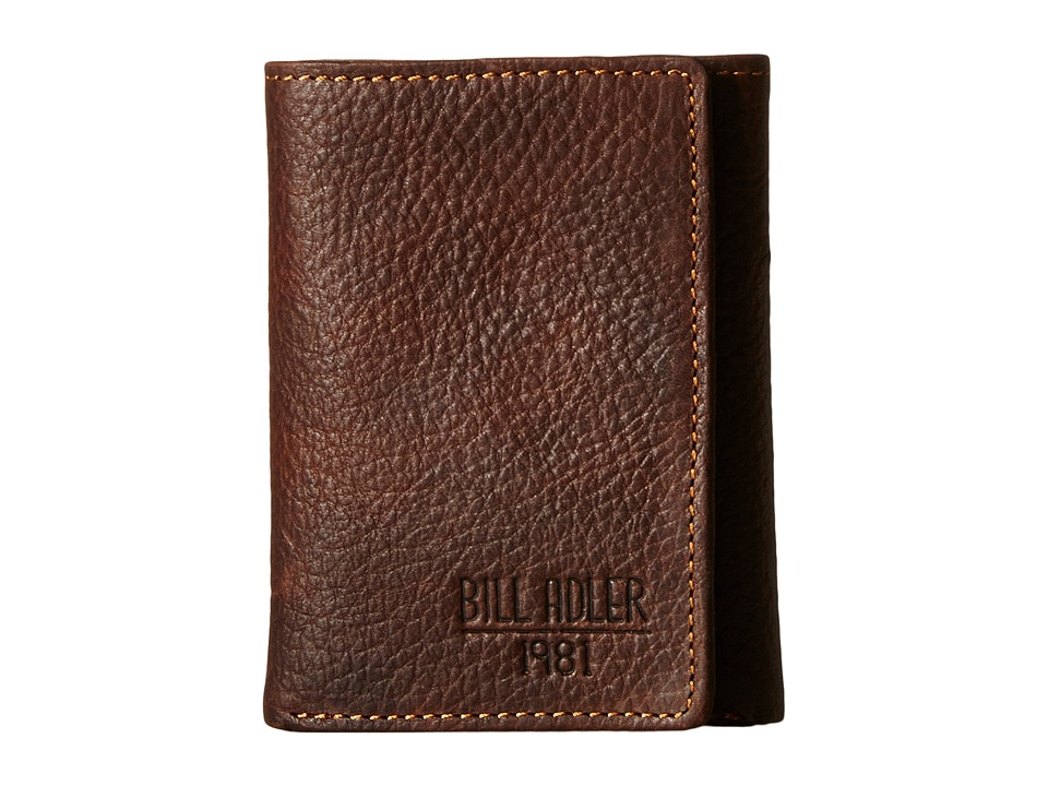 Bill Adler 1981 - Pebble Front Pocket (Brown) Wallet Handbags