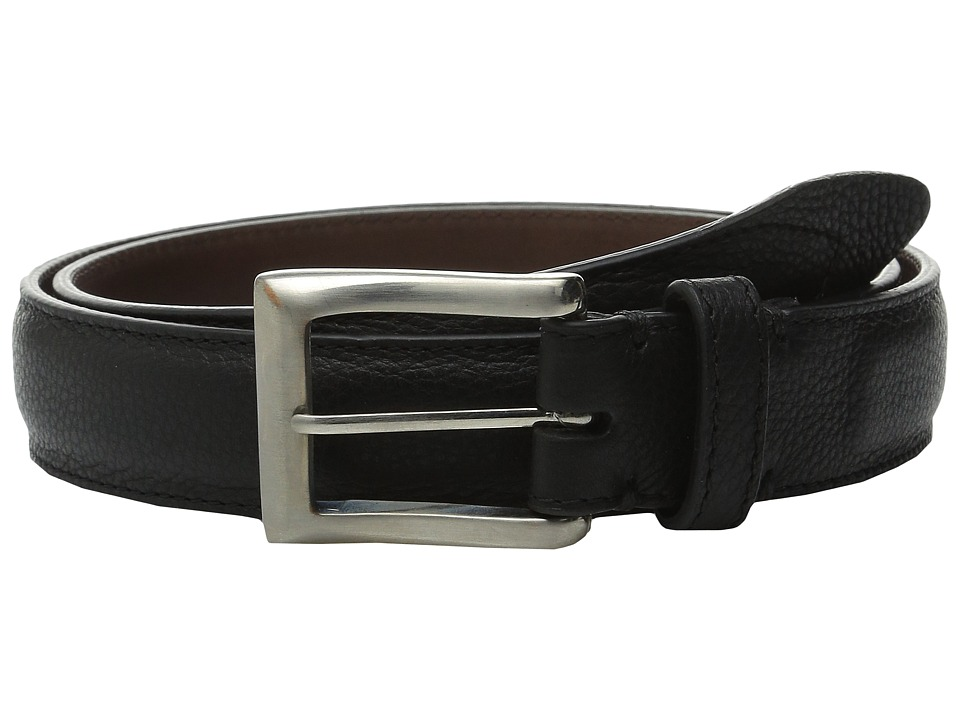 Will Leather Goods - Trapunto Feather Edge (Black) Men's Belts