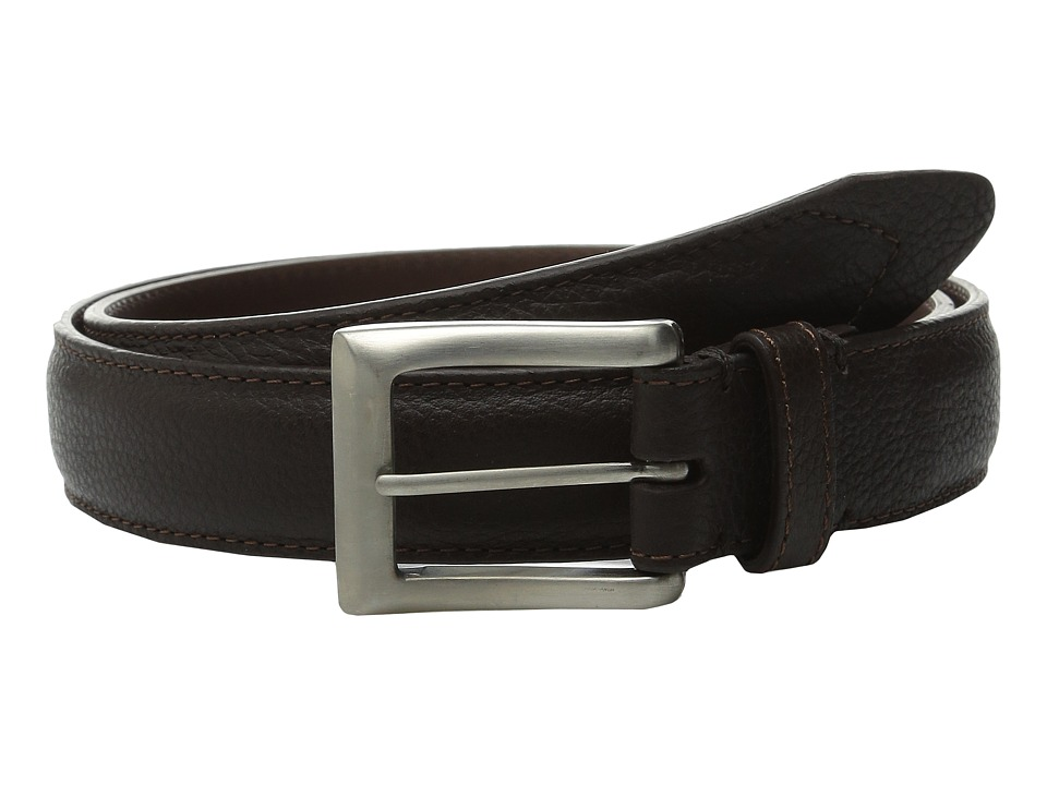 Will Leather Goods - Trapunto Feather Edge (Brown) Men's Belts