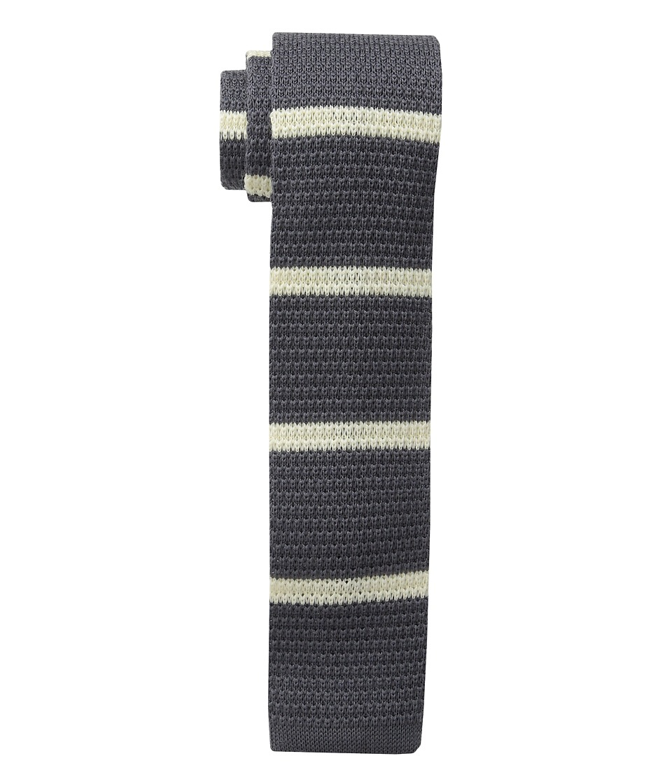 Cufflinks Inc. - Stripe Silk Knit Tie (Gray/White) Ties