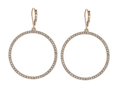Vince Camuto - Pave Open Circle Earrings (Rose Gold/Crystal) Earring