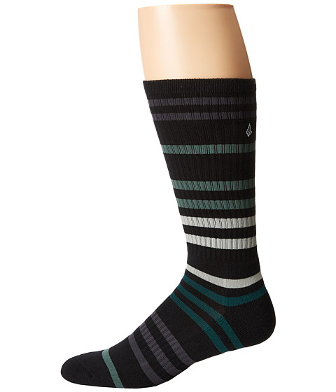 Volcom - Furrow (Emerald Green) Men's Crew Cut Socks Shoes