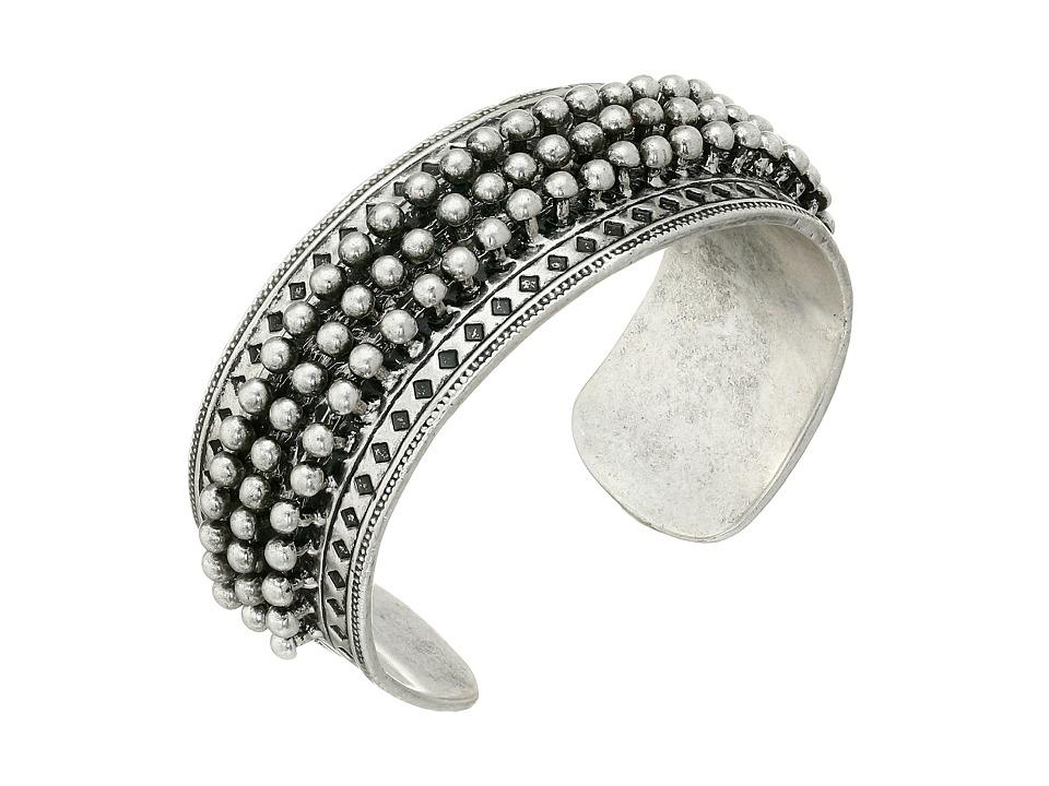 Lucky Brand - Big Spike Cuff Bracelet (Silver) Bracelet
