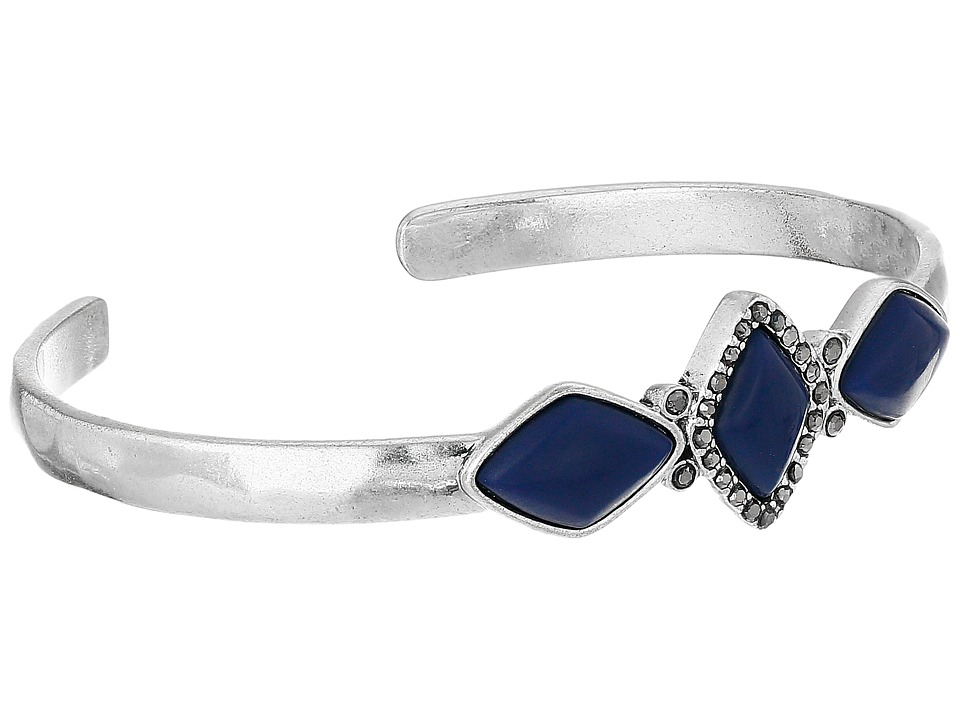 Lucky Brand - Lapis Set Stone Cuff Bracelet (Silver) Bracelet