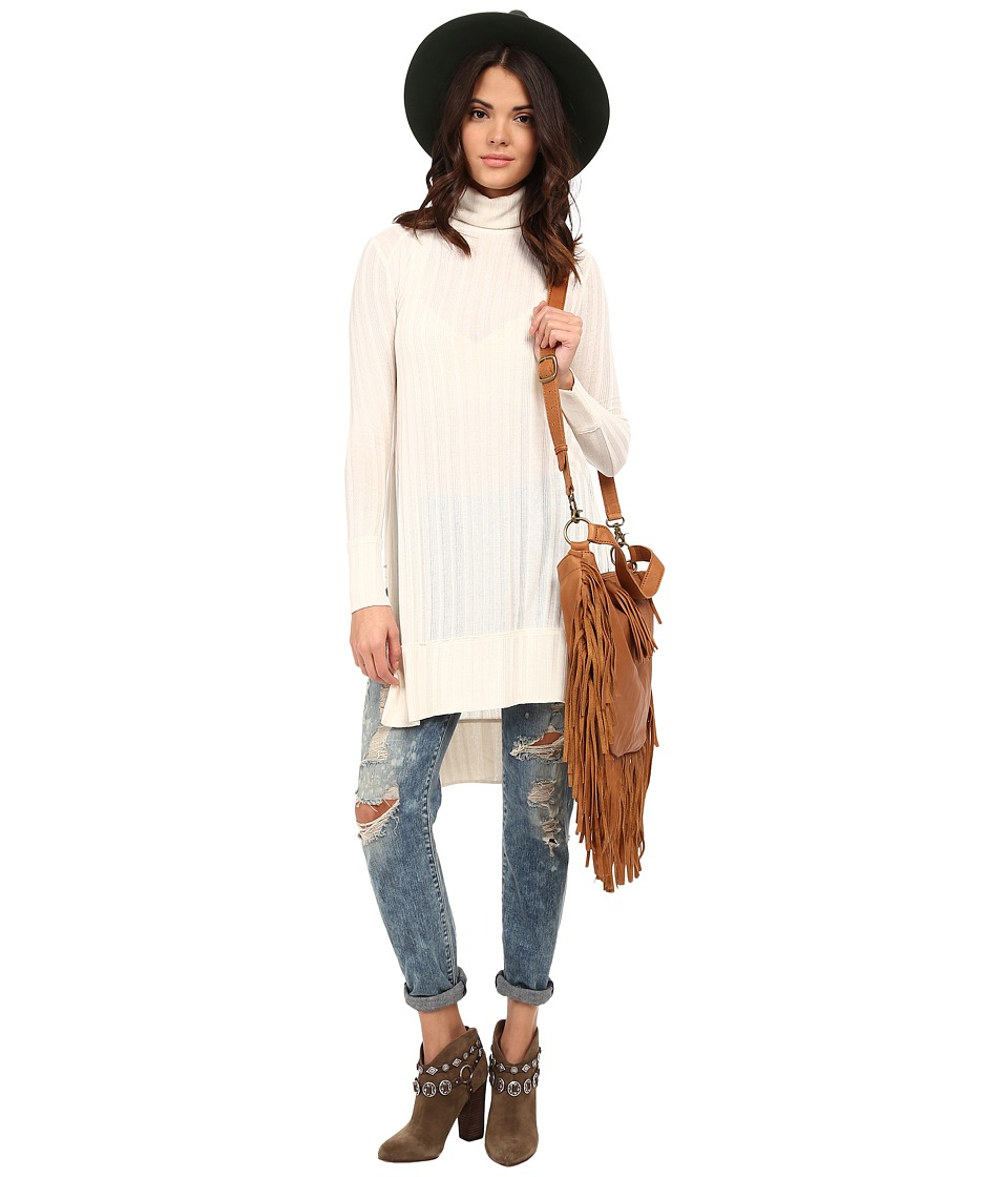 Free People - Espresso Top (Linen Heather) Women's Long Sleeve Pullover
