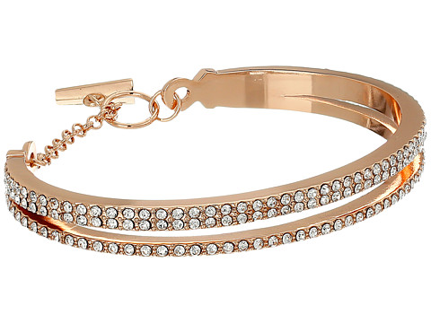 Vince Camuto - Double Band Pave Bracelet (Rose Gold/Crystal) Bracelet