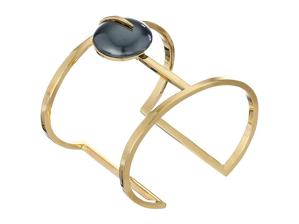 Vince Camuto - Pearl T Bar Cuff Bracelet (Gold/Dark Grey Pearl) Bracelet