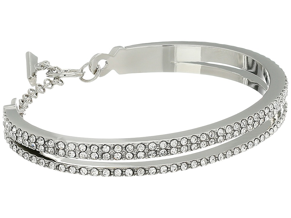 Vince Camuto - Double Band Pave Bracelet (Light Rhodium/Crystal) Bracelet
