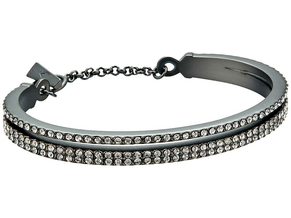 Vince Camuto - Double Band Pave Bracelet (Matte Hematite/Crystal) Bracelet