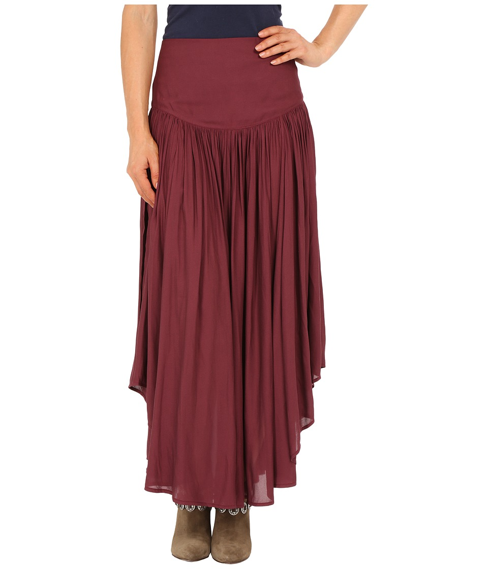 Free People - Day In Life Skirt (Plum) Women's Skirt