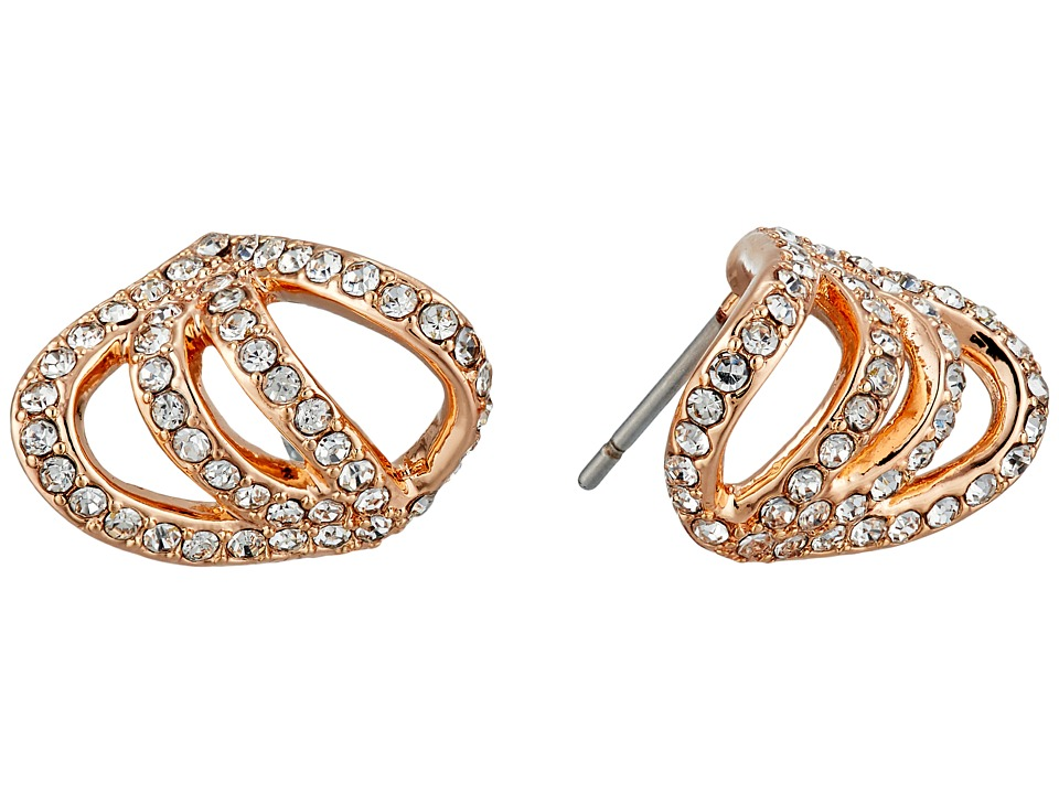 Vince Camuto - Pave Claw Earrings (Rose Gold/Crystal) Earring