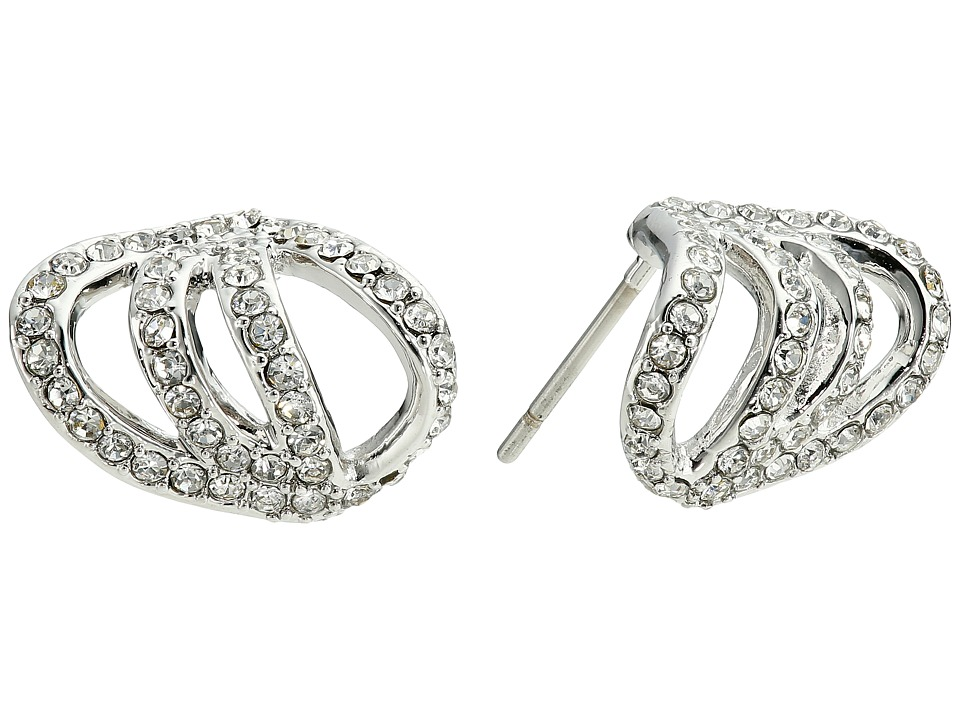 Vince Camuto - Pave Claw Earrings (Light Rhodium/Crystal) Earring