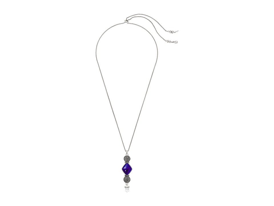 Lucky Brand - Lapis Pendant Necklace (Silver) Necklace