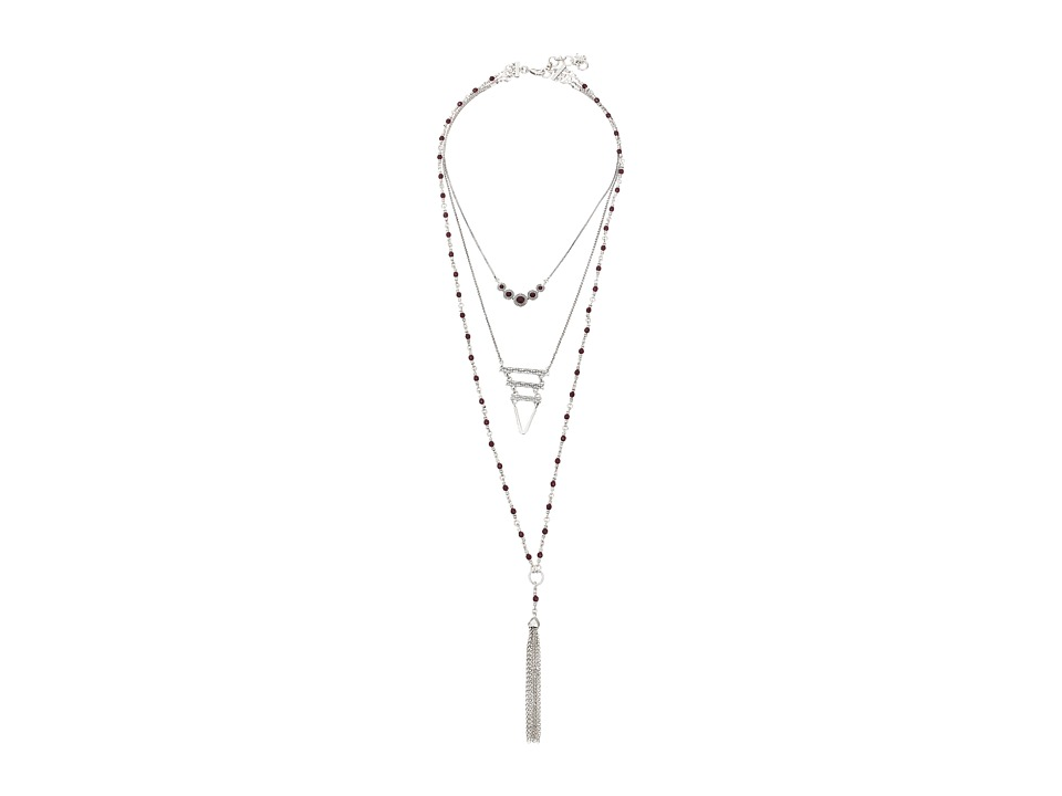 Lucky Brand - Lucky Layer Ruby Necklace (Silver) Necklace