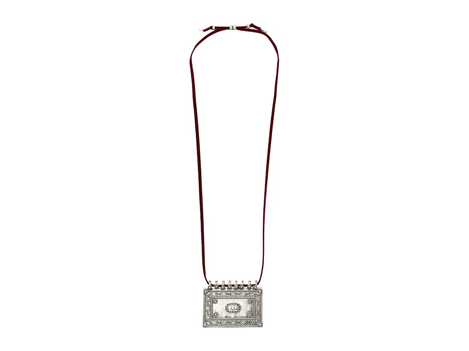 Lucky Brand - Sheild Necklace (Silver) Necklace