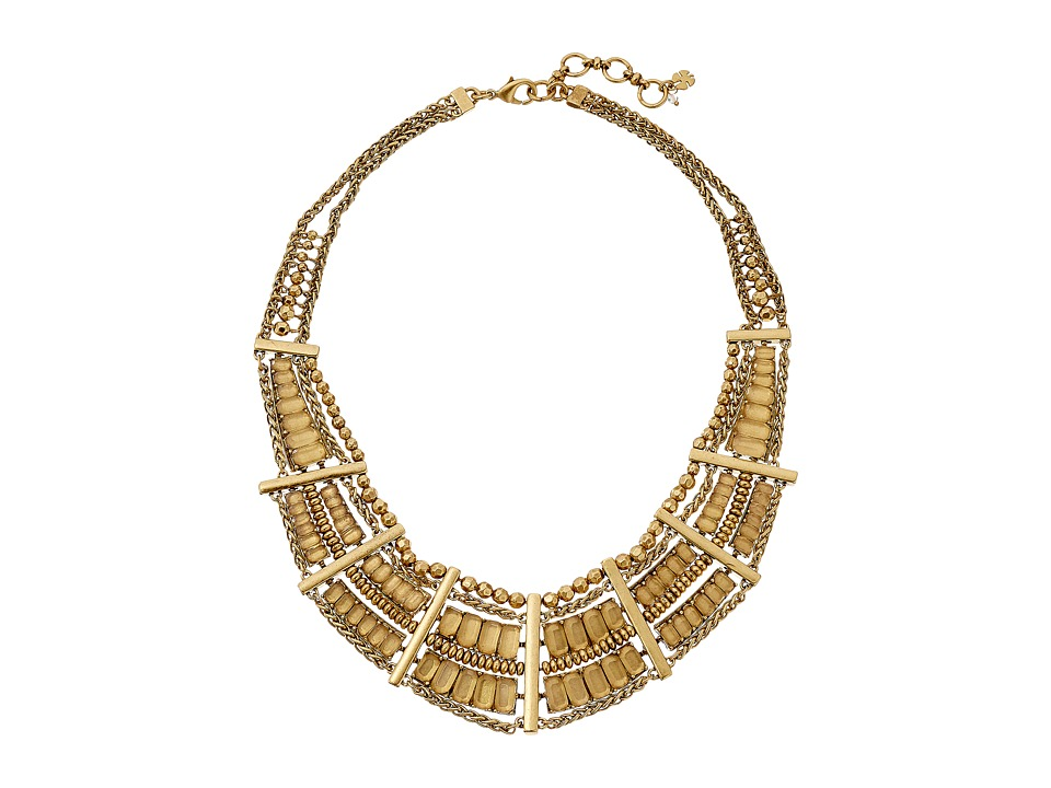 Lucky Brand - Quartz Bib Necklace (Gold) Necklace