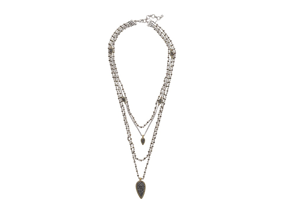 Lucky Brand - Pave Lucky Layer Necklace (Two-Tone) Necklace