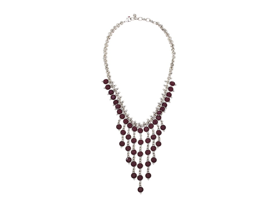 Lucky Brand - Ruby Bib Necklace (Silver) Necklace