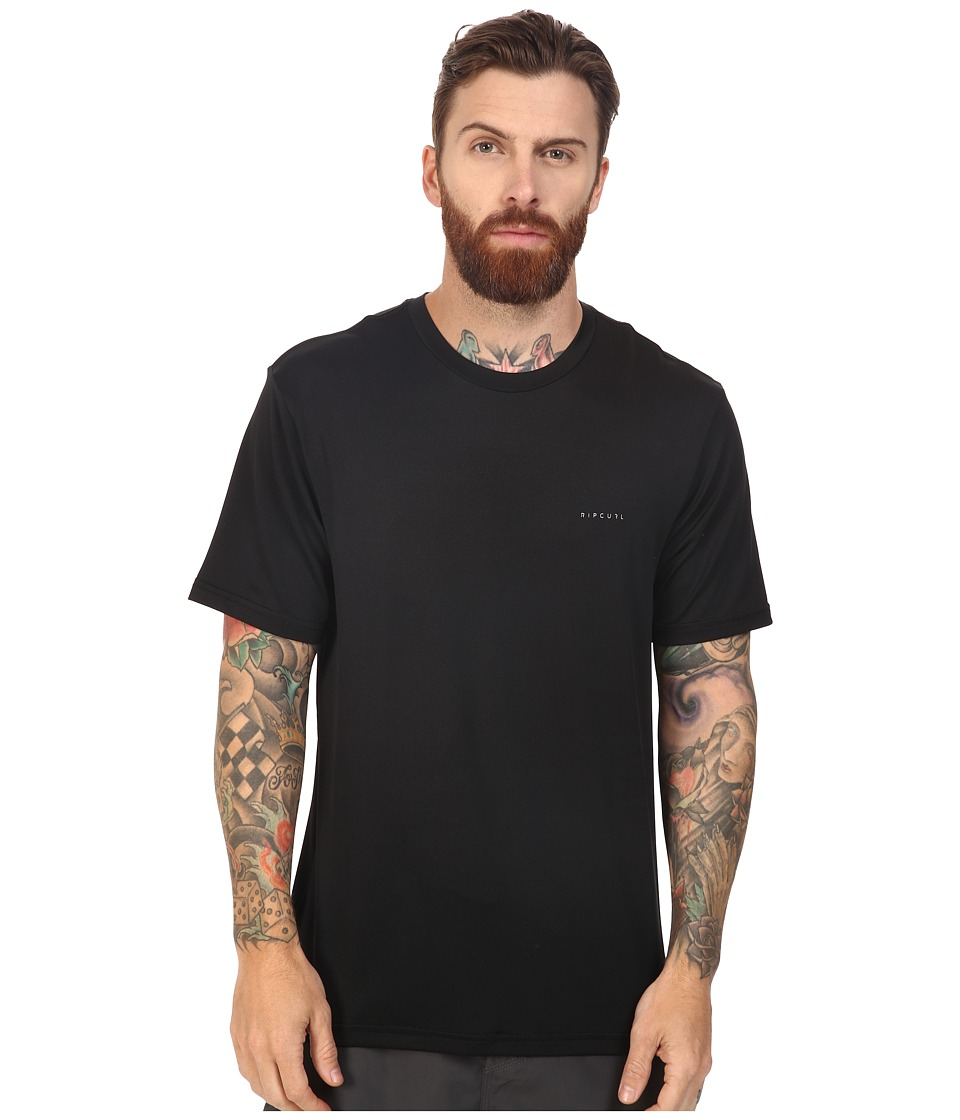 Rip Curl - Search Series Short Sleeve Tee (Black) Men's Swimwear