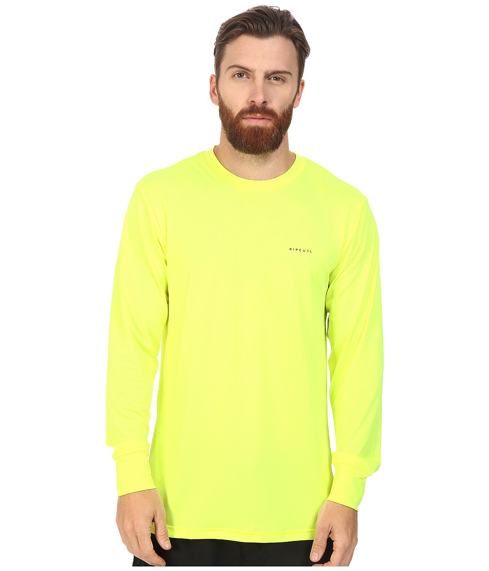 Rip Curl - Search Series Long Sleeve Tee (Lime) Men's Swimwear
