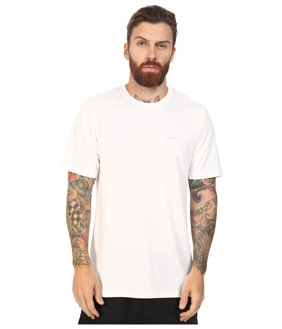 Rip Curl - Search Series Short Sleeve Tee (White) Men's Swimwear