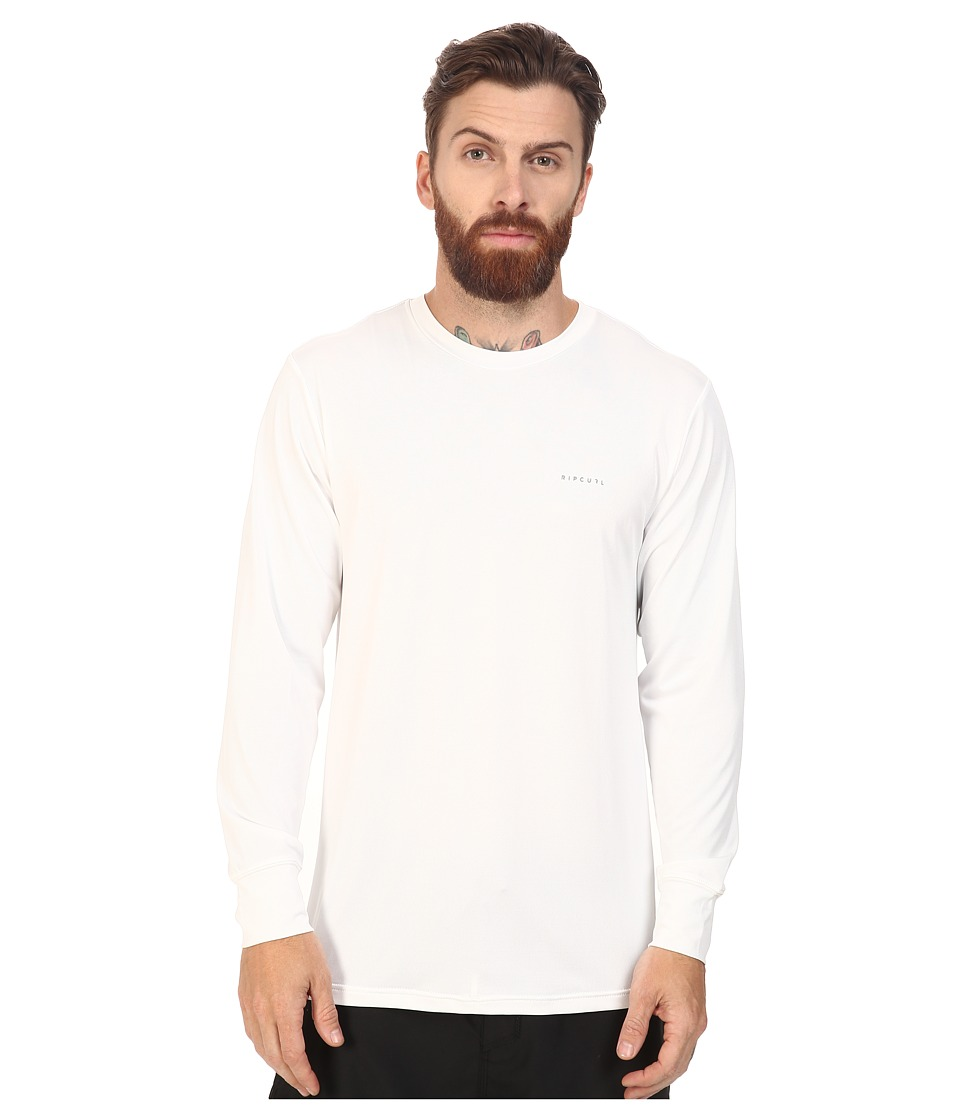 Rip Curl - Search Series Long Sleeve Tee (White) Men's Swimwear