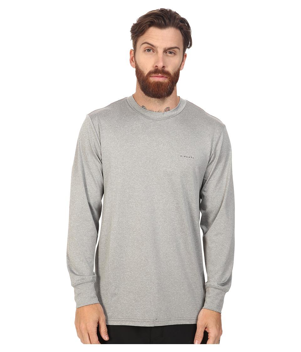 Rip Curl - Search Series Long Sleeve Tee (Grey) Men's Swimwear