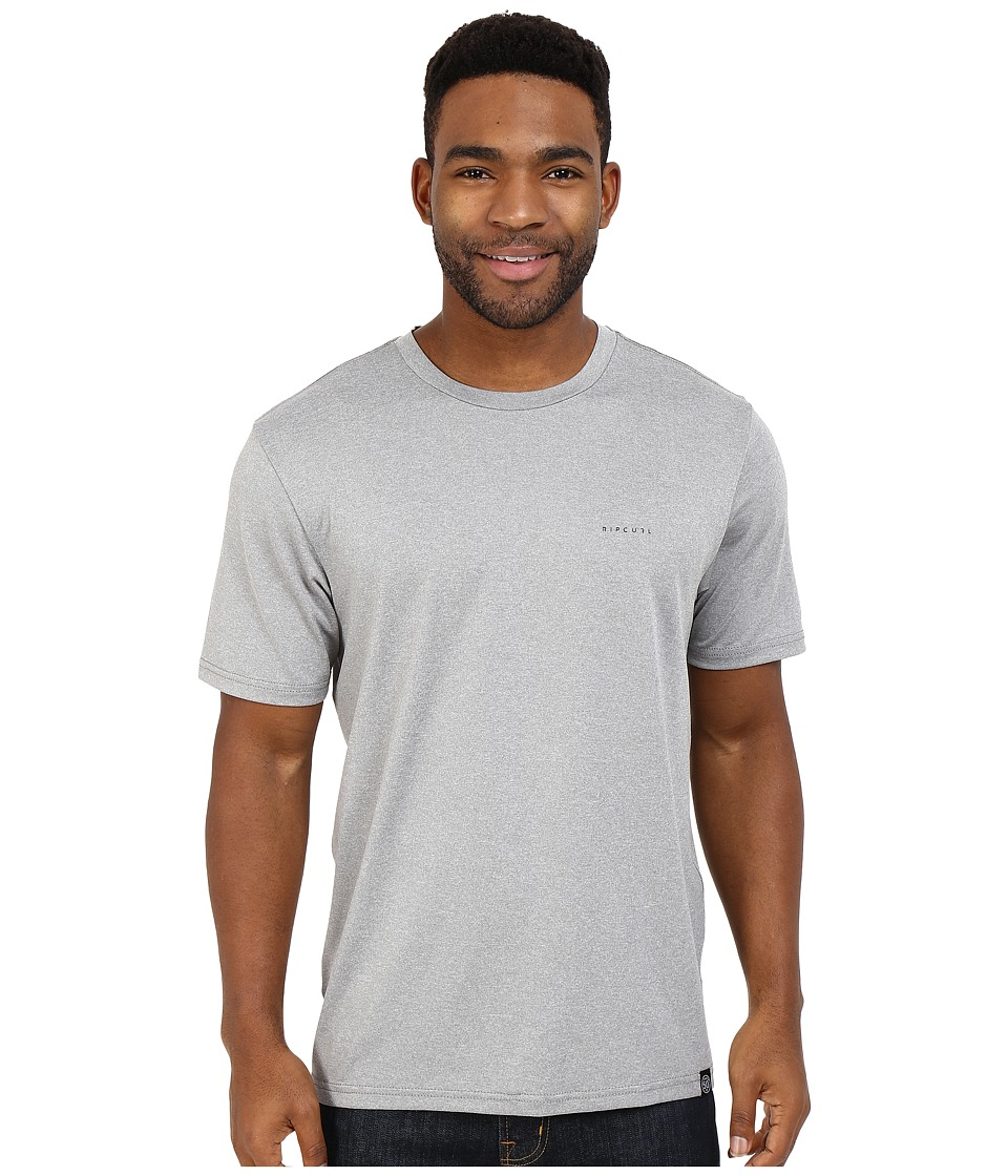 Rip Curl - Search Series Short Sleeve Tee (Grey) Men's Swimwear