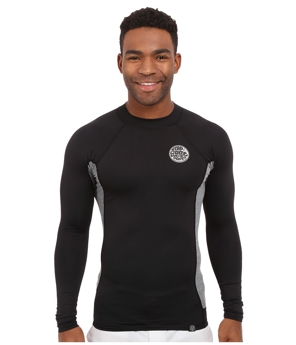 Rip Curl - Aggrolite UV Tee Long Sleeve (Black) Men's Swimwear