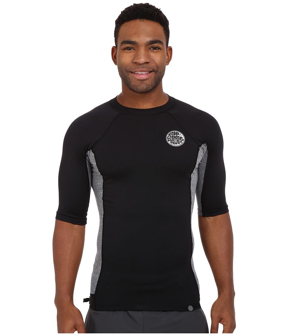 Rip Curl - Aggrolite UV Tee Short Sleeve (Black) Men's Swimwear