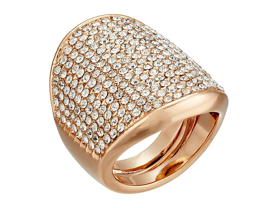Vince Camuto - Adjustable Pave Shield Ring (Rose Gold/Crystal) Ring