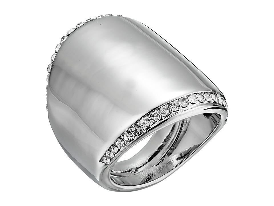 Vince Camuto - Adjustable Peeking Pave Ring (Light Rhodium/Crystal) Ring
