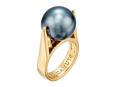 Vince Camuto - Drama Pearl Ring (Gold/Dark Grey Pearl) Ring