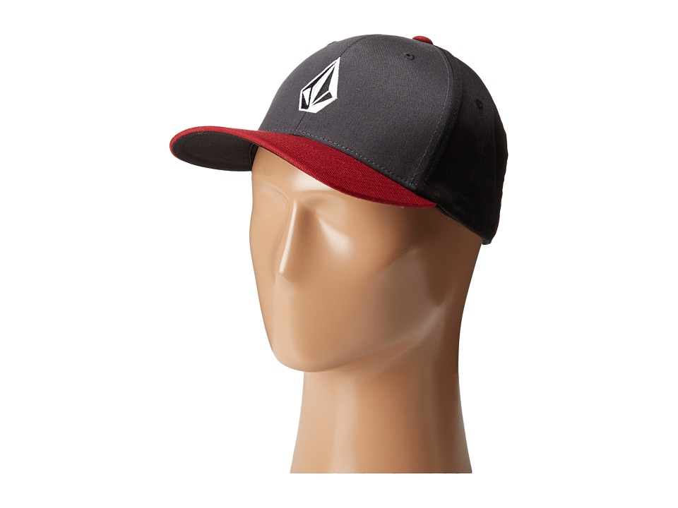 Volcom - Full Stone X-Fit FlexFit (Deep Red) Baseball Caps