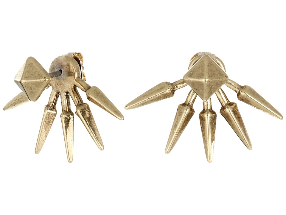 Lucky Brand - Spike Jacket Earrings (Gold) Earring