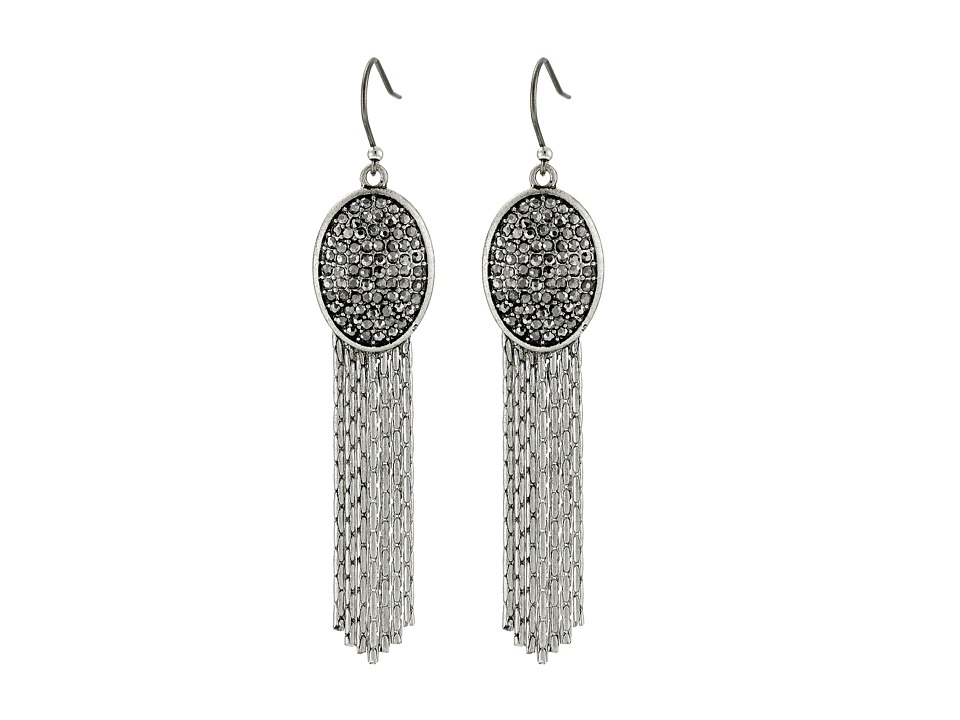 Lucky Brand - Pave Chandelier Earrings (Silver) Earring