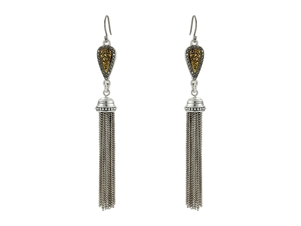 Lucky Brand - Tassle Earrings (Two-Tone) Earring