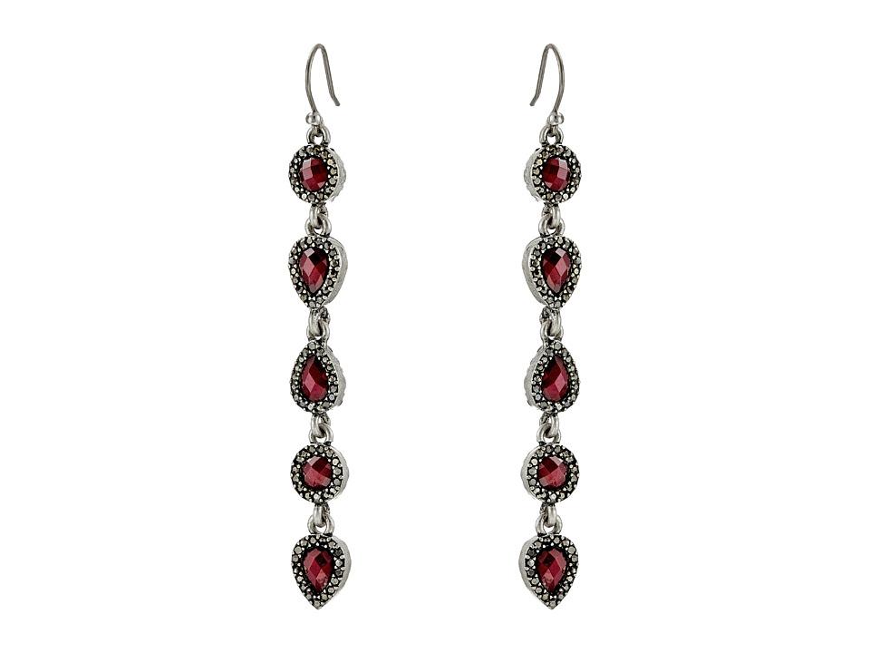 Lucky Brand - Ruby Linear Drop Earrings (Silver) Earring