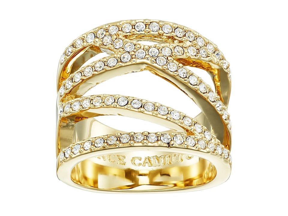 Vince Camuto - Crisscross Ring (Gold/Crystal) Ring