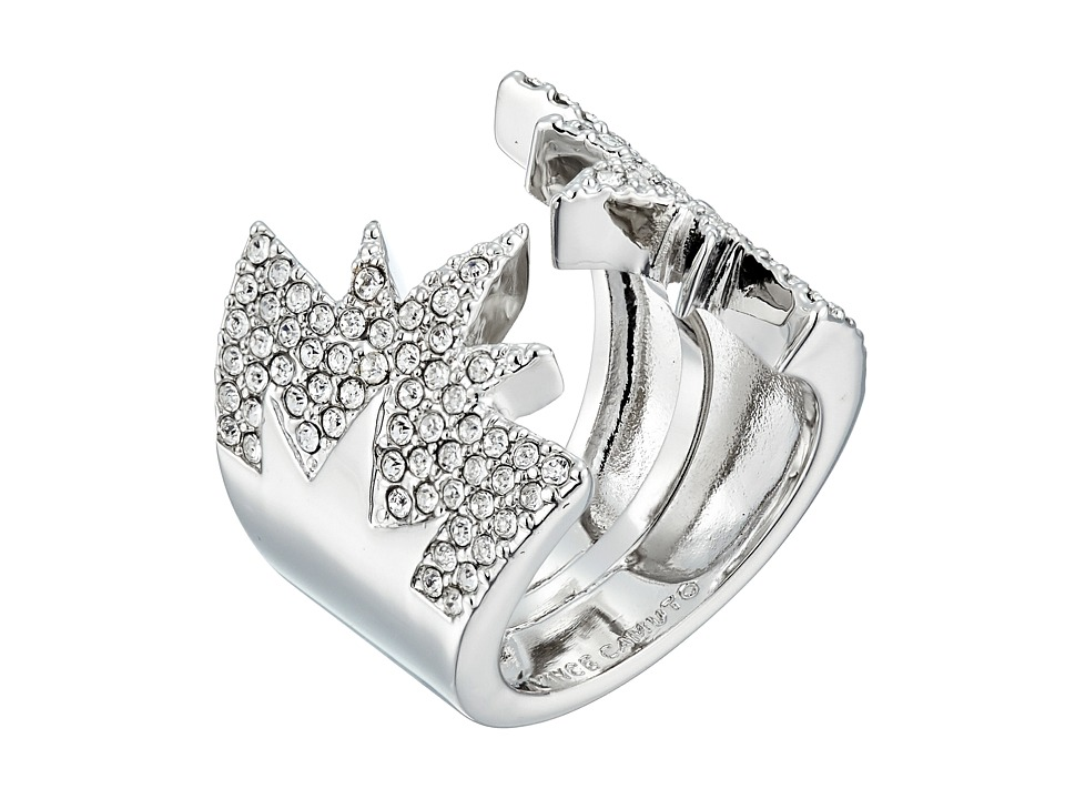 Vince Camuto - Open Pave Adjustable Star Ring (Light Rhodium/Crystal) Ring