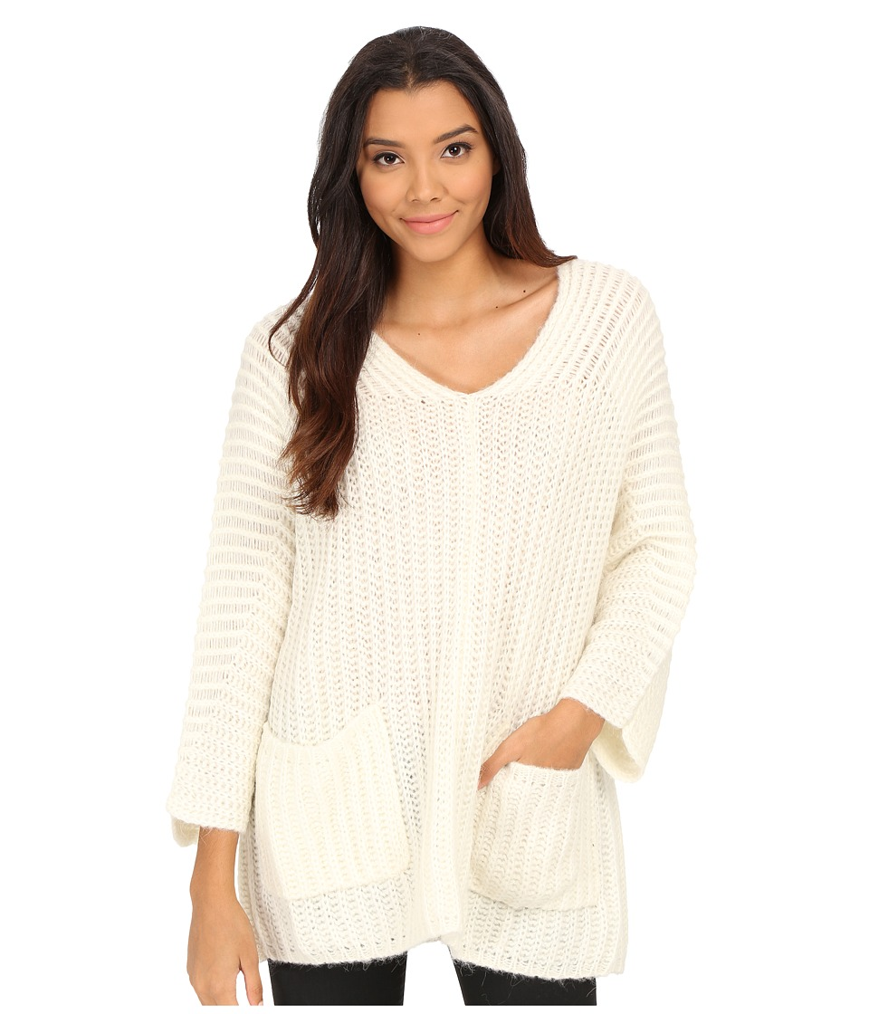 Free People - Solid Pockets Sweater (Ivory) Women's Sweater