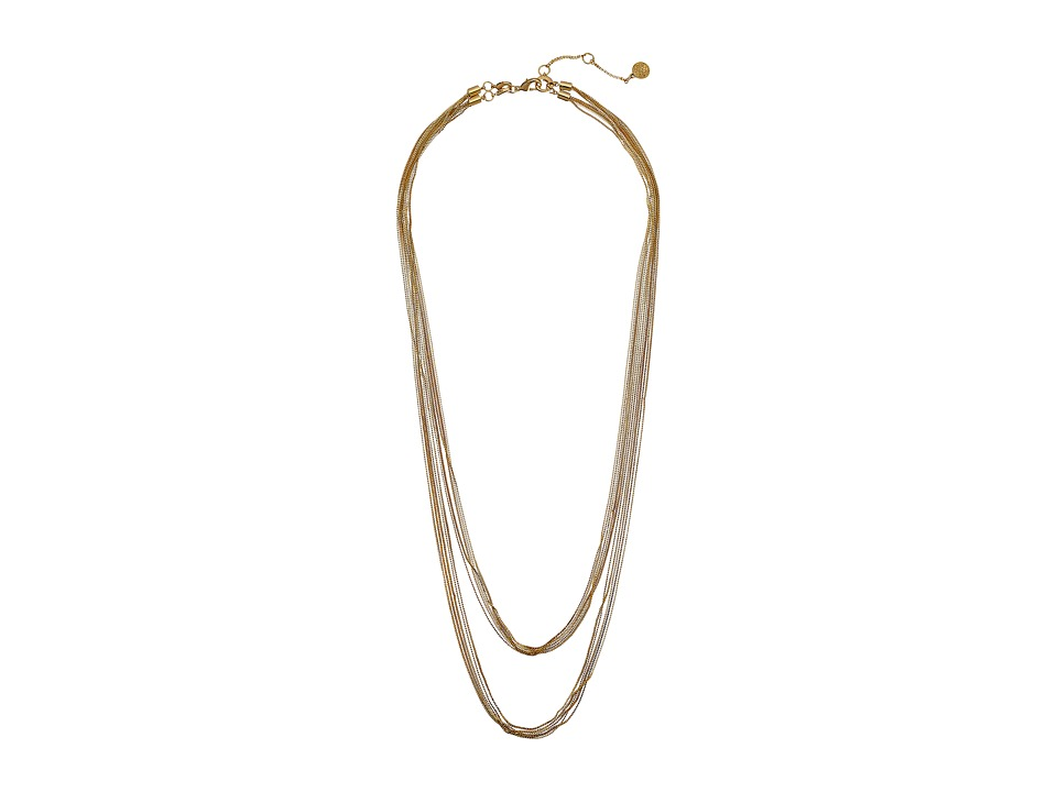 Vince Camuto - Chain Drape Convertible High-Low Necklace (Gold) Necklace