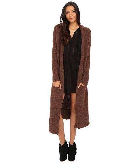 Free People - Santa Cruz Cardigan (Dark Copper Melange) Women