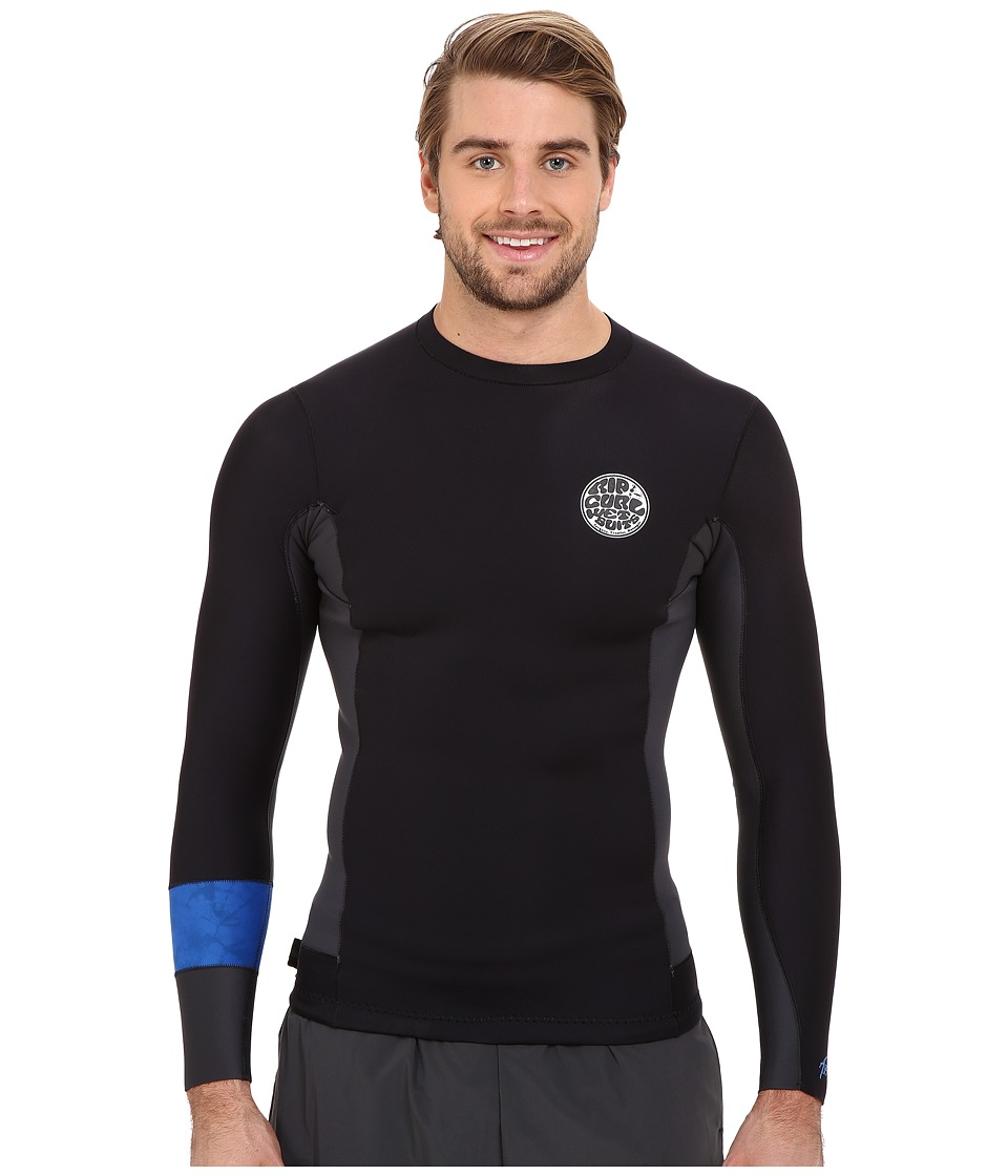 Rip Curl - Aggrolite 1.5mm Long Sleeve Jacket (Black) Men's Swimwear