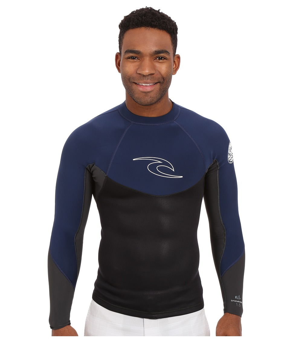 Rip Curl - Dawn Patrol 1.5mm Long Sleeve Jacket (Navy) Men's Swimwear