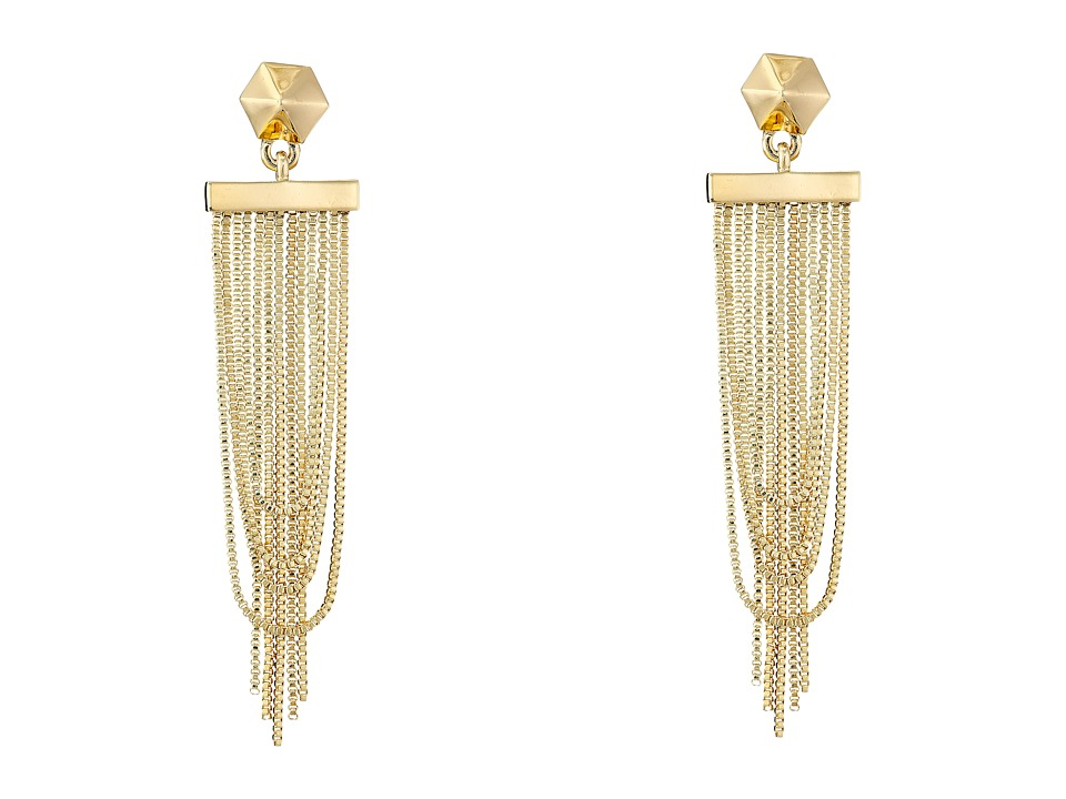 Vince Camuto - Chain Drape Drama Earrings (Gold) Earring