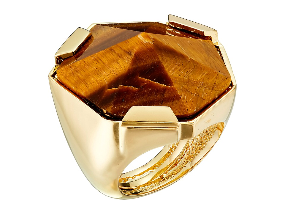 Vince Camuto - Adjustable Tigers Eye Stone Ring (Gold/Tigers Eye) Ring