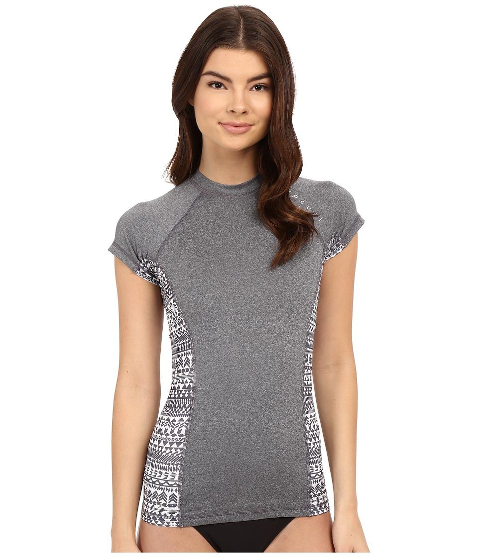Rip Curl - Trestles UV Tee Short Sleeve (Charcoal) Women's Swimwear